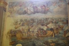 Il dipinto della battaglia navale di Lepanto nella chiesa