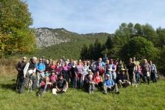 Foto di gruppo dei pellegrini francesi itineranti