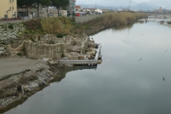Albenga: resti delle terme su palafitte sul fiume Centa